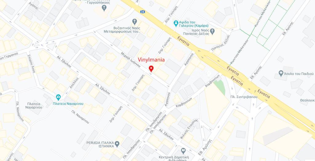 vinylmania map